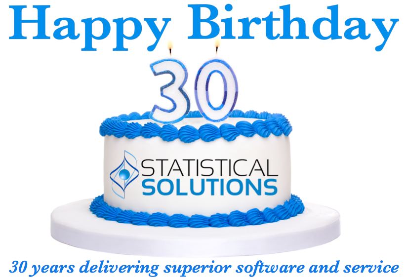 Happy Birthday Statistical Solutions