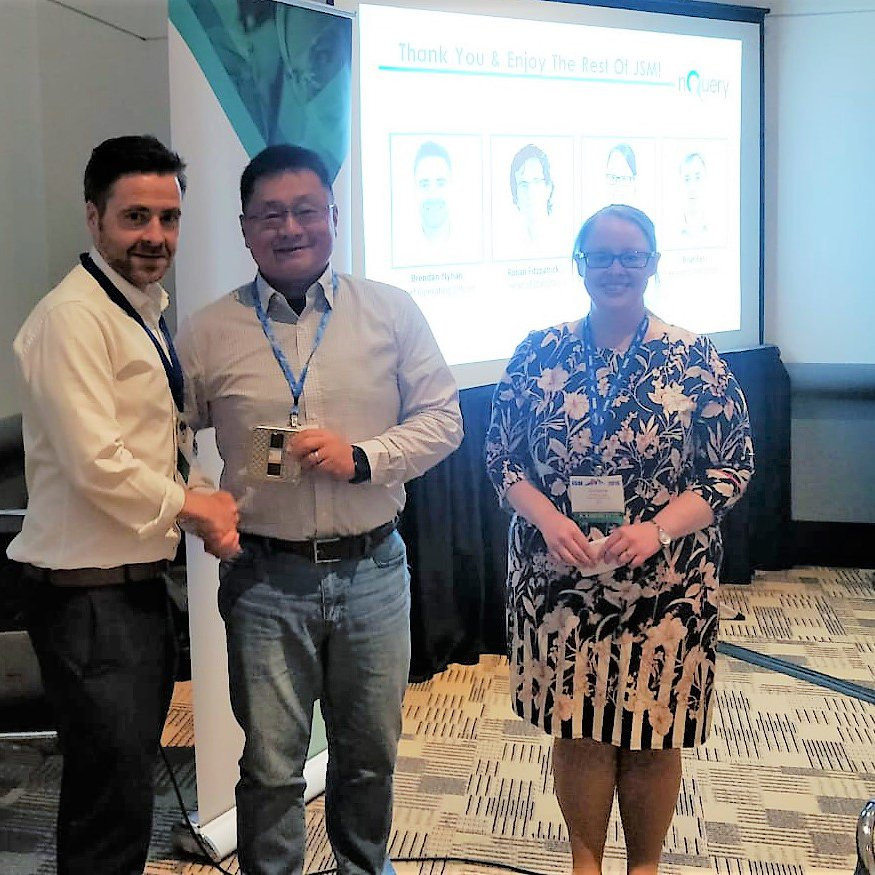Kevin Hu -  Associate Director, Biometrics at  Ionis Pharmaceuticals wins a prize from nQuery at JSM 2019