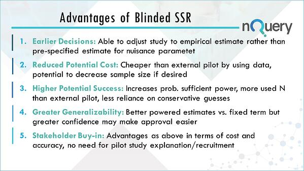 Advantages of Blinded Sample Size Re-Estimation in Clinical Trials