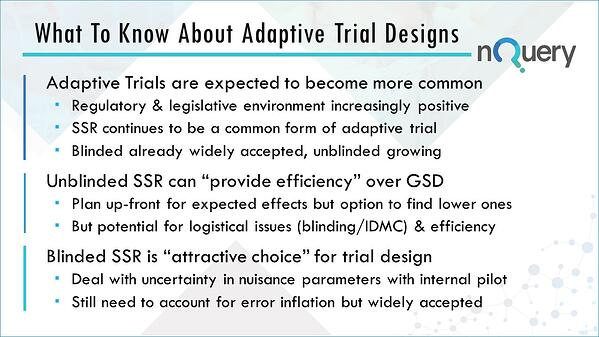 What to know about adaptive trial designs