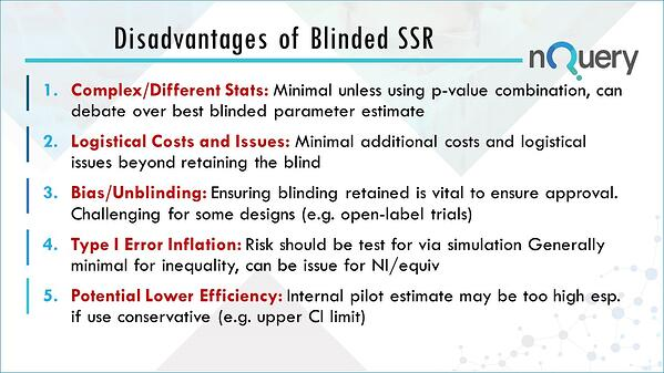 Disadvantages of Blinded Sample Size Re-estimation in Clinical Trials