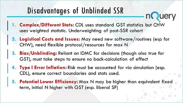 The disadvantages of unblinded sample size re-estimation clinical trials