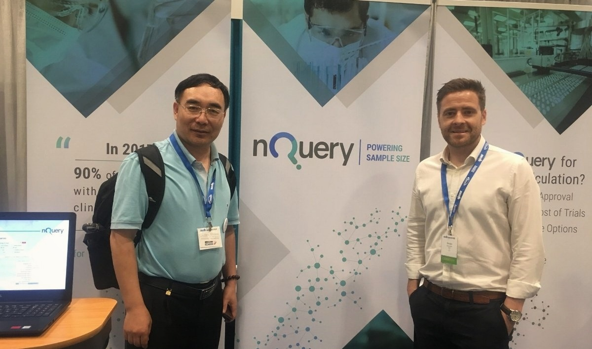 Thomas Zheng from umich at #JSM2018  with  nQuery COO-151166-edited-532124-edited