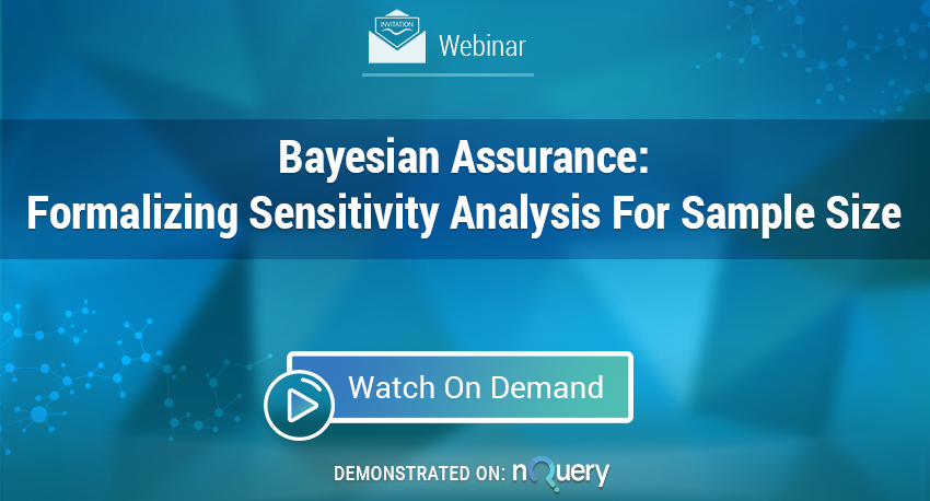 Webinar On Demand - Bayesian Assurance - Formalising Sensitivity Analysis