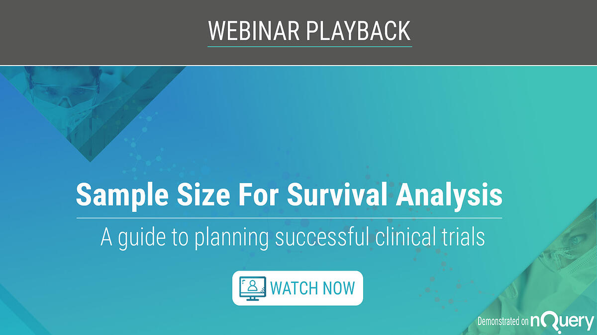 Sample Size for Survival Analysis - Webinar On Demand